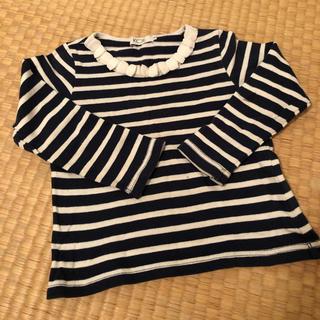 KOE 襟フリルボーダーカットソー(Tシャツ/カットソー)