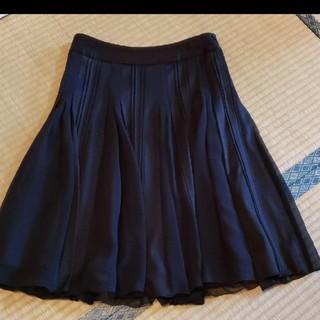 ストロベリーフィールズ(STRAWBERRY-FIELDS)のストロベリーフィールズ プリーツスカート フレアスカート シフォン(ひざ丈スカート)