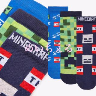マイクロソフト(Microsoft)の【新品】マルチ コットンリッチMinecraftソックス3足組(ボーイズ)(靴下/タイツ)