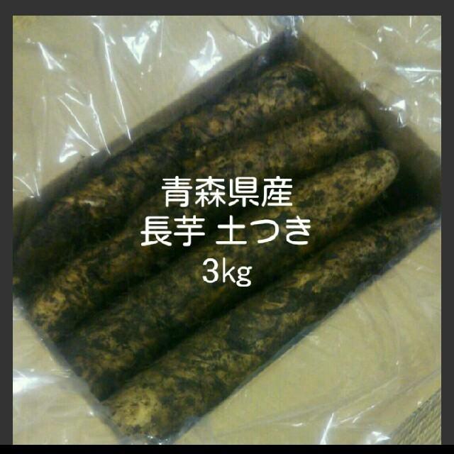 青森県産 春掘り 長芋  カット 土つき 食品/飲料/酒の食品(野菜)の商品写真