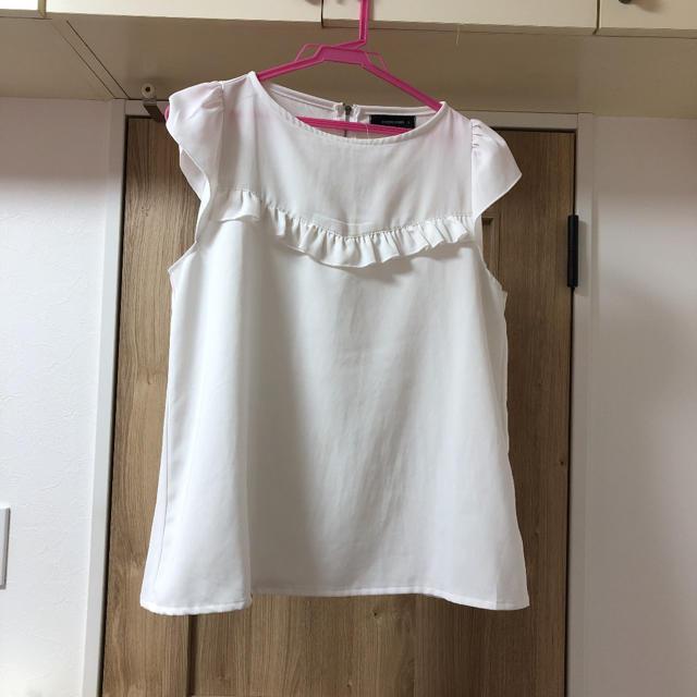 しまむら(シマムラ)の白ブラウス レディースのトップス(シャツ/ブラウス(長袖/七分))の商品写真