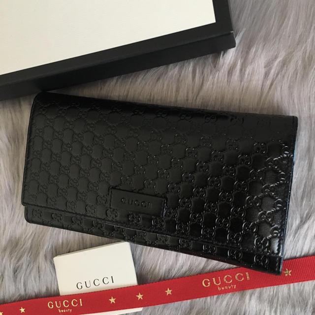 Gucci - 美品 グッチ 長財布 二つ折り マイクロGGの通販