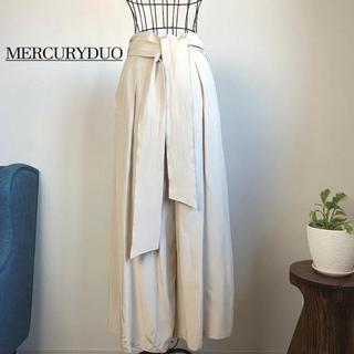 MERCURYDUO - 【美品】マーキュリーデュオ ウエストリボン付タックフレアパンツ
