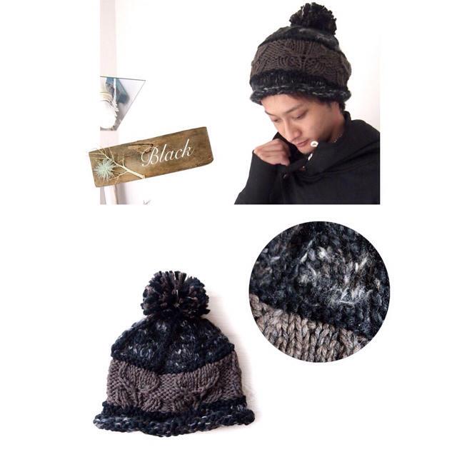 ★マルチカラー★ケーブル★ニット帽 メンズの帽子(ニット帽/ビーニー)の商品写真