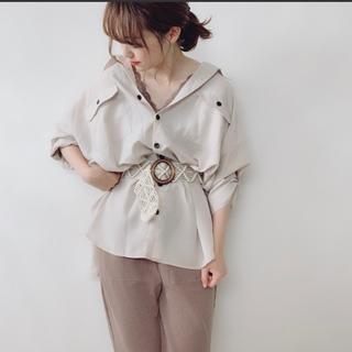 値下オーバーサイズシアーシャツ(シャツ/ブラウス(長袖/七分))