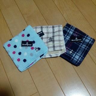 マンシングウェア(Munsingwear)のMunsingwear タオルハンカチ 3枚セット【未使用です!】(ハンカチ/ポケットチーフ)