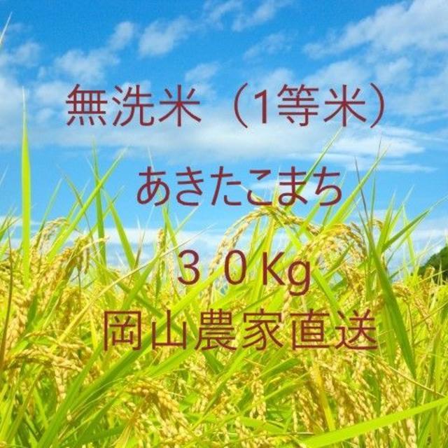 【無洗米】あきたこまち30kg 食品/飲料/酒の食品(米/穀物)の商品写真