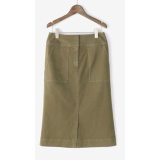 プラステ(PLST)のPLST プラステ/チノストレッチ ベイカータイトスカート(ひざ丈スカート)