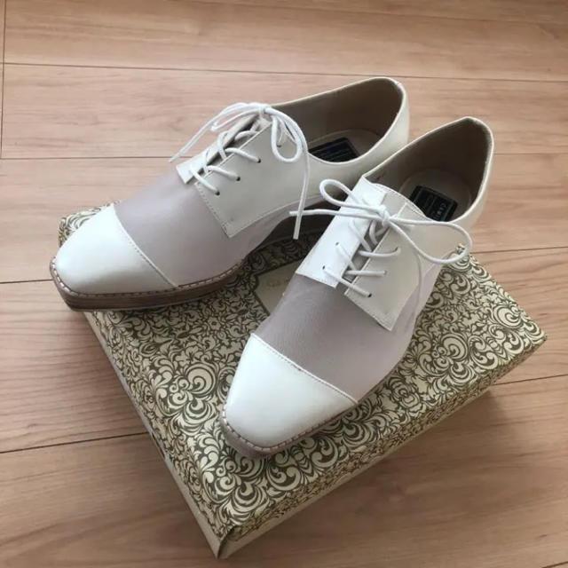 RANDA(ランダ)の【25.5㎝】 RANDAメッシュレースアップ厚底シューズ レディースの靴/シューズ(ローファー/革靴)の商品写真