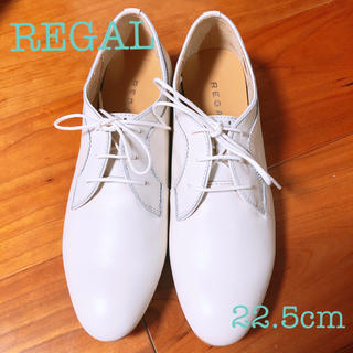 REGAL - レースアップシューズ 白 ドレスシューズ ローファー 革靴 レザー ホワイト 白