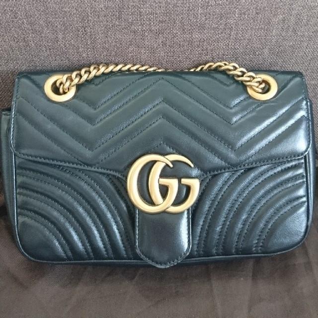 Gucci - GUCCI グッチ GGマーモント キルティング スモールショルダーバッグ  の通販
