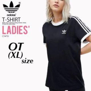 アディダス(adidas)の完売品!adidas originals 黒×白 3本ライン Tシャツ XL(Tシャツ(半袖/袖なし))