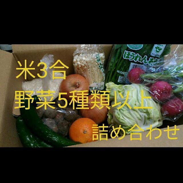 米、野菜詰め合わせセット(テレワーク応援米増量中!!) 食品/飲料/酒の食品(野菜)の商品写真