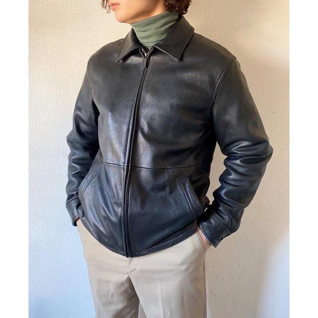Calvin Klein(カルバンクライン)のvintage ヴィンテージ 90s Calvin Klein レザージャケット メンズのジャケット/アウター(レザージャケット)の商品写真