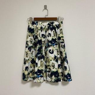 UNITED ARROWS - 花柄フレアスカート