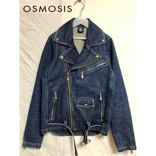 OSMOSIS - osmosis/オズモーシス デニムライダースジャケット