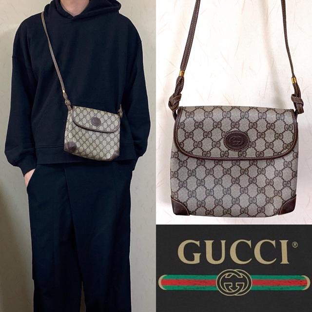 Gucci - GUCCI グッチ ショルダーバッグ オールドグッチ 総柄 CG柄の通販