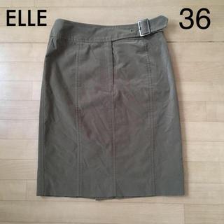 ELLE - 【美品】ELLE ウエストベルトスカート