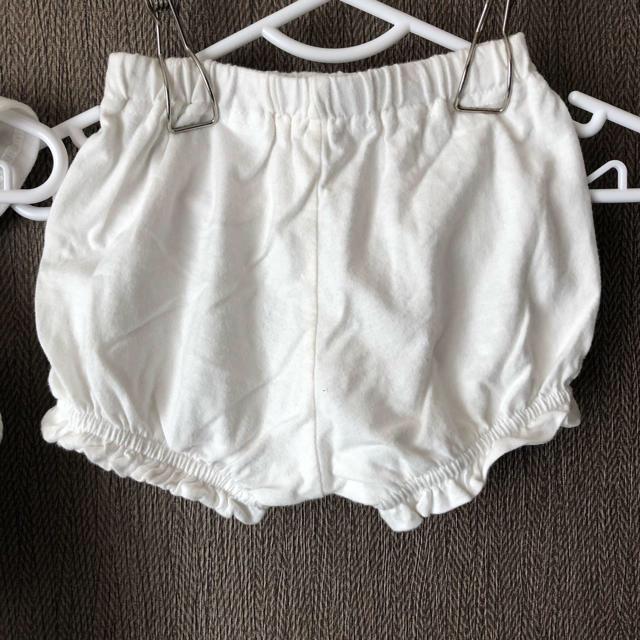 西松屋(ニシマツヤ)の【セット売り】ベビー服トップス+ズボン付き キッズ/ベビー/マタニティのベビー服(~85cm)(Tシャツ)の商品写真