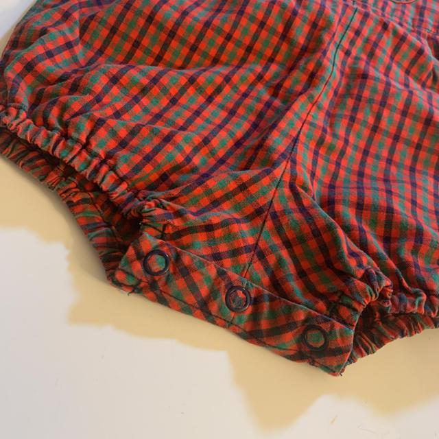 familiar(ファミリア)のロンパース ダルマオール オーバーオール 80 キッズ/ベビー/マタニティのベビー服(~85cm)(ロンパース)の商品写真