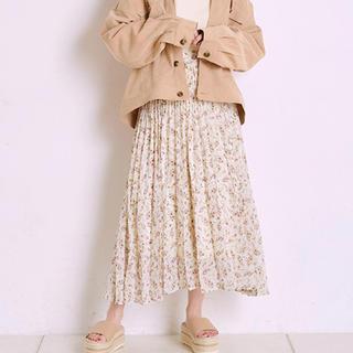 ナイスクラップ(NICE CLAUP)の花柄 プリーツスカート(ロングスカート)