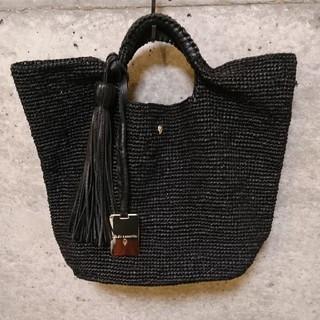 ヘレンカミンスキー(HELEN KAMINSKI)のヘレンカミンスキー バッグ ジョージア ブラック (かごバッグ/ストローバッグ)