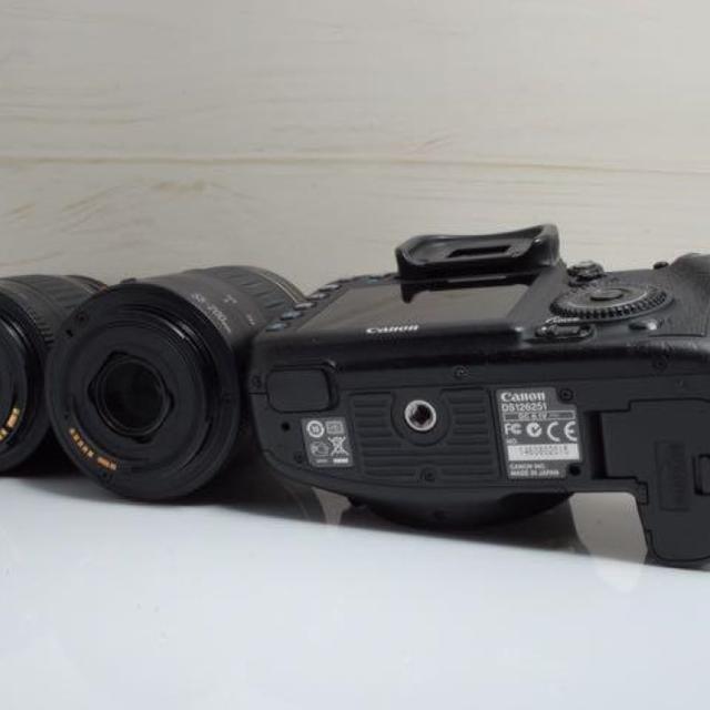 Canon(キヤノン)の【大人気!!】遠くもバッチリ キャノン EOS 7D ダブルレンズ キット スマホ/家電/カメラのカメラ(デジタル一眼)の商品写真