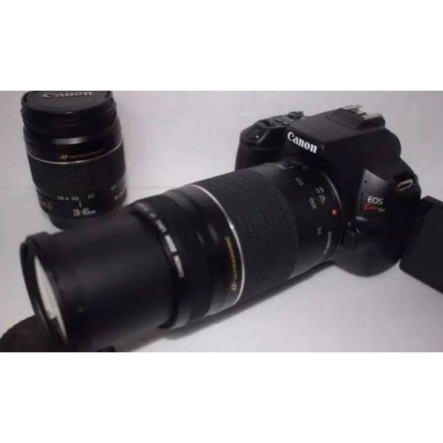 Canon(キヤノン)のcanon kiss x9 標準&望遠ダブルレンズセット●●49 スマホ/家電/カメラのカメラ(デジタル一眼)の商品写真