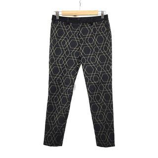 デプレ(DES PRES)の美品 DES PRES デ プレ レディース パンツ サイズ00 XS 黒 総柄(カジュアルパンツ)
