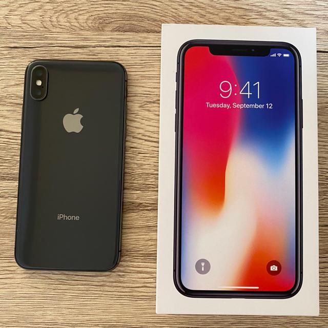 iPhone(アイフォーン)のiPhone X 256GB 傷なし 超美品  スマホ/家電/カメラのスマートフォン/携帯電話(スマートフォン本体)の商品写真