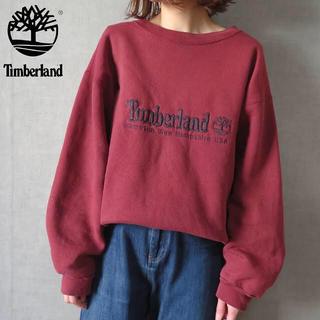 Timberland - 90s USA製 ティンバーランド 刺繍 スウェット トレーナー 古着女子