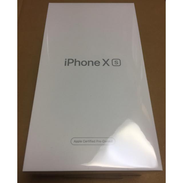 iPhone(アイフォーン)のApple iPhone XS 64GB ゴールド メーカー認定整備済シムフリー スマホ/家電/カメラのスマートフォン/携帯電話(スマートフォン本体)の商品写真