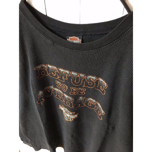 Harley Davidson(ハーレーダビッドソン)の【米国製ビンテージ★古着】ハーレーダビッドソン ビッグプリントサーマルカットソー メンズのトップス(Tシャツ/カットソー(七分/長袖))の商品写真