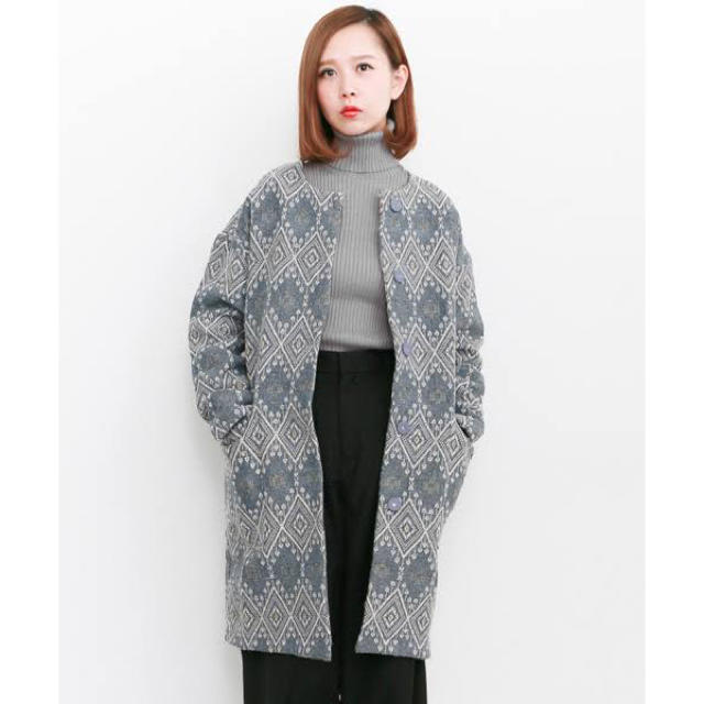 KBF(ケービーエフ)の美品*KBFインドジャガーコート レディースのジャケット/アウター(ノーカラージャケット)の商品写真
