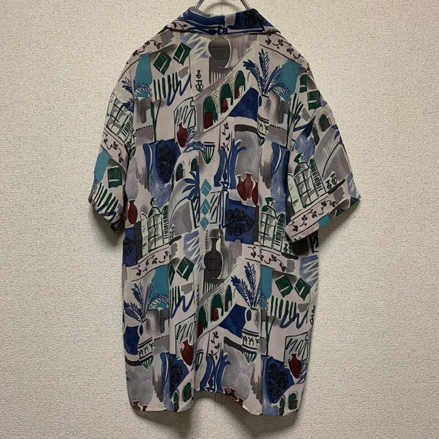 ART VINTAGE(アートヴィンテージ)の【90's】アートビンテージ 総柄 シースルー シャツ M メンズのトップス(シャツ)の商品写真
