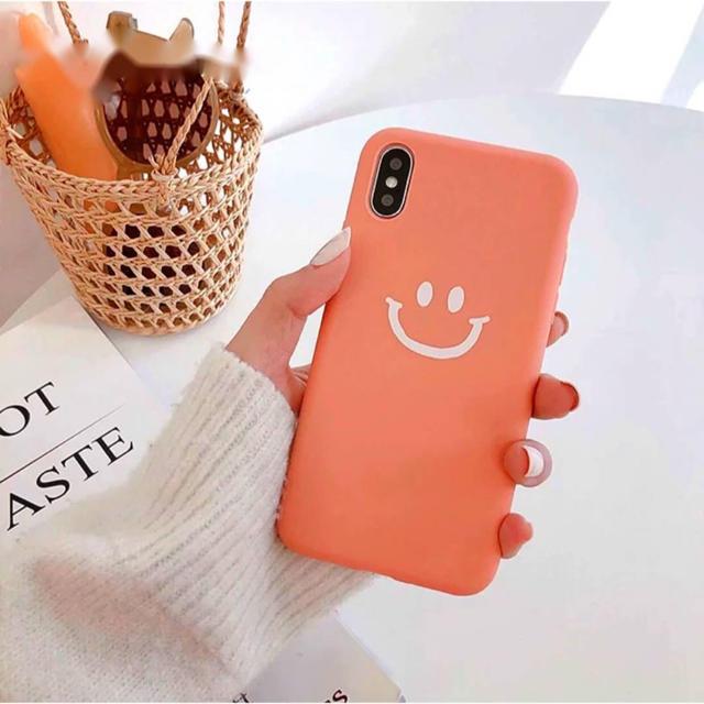 iPhoneケース スマイル iPhone7/8 Plus コーラルピンク  スマホ/家電/カメラのスマホアクセサリー(iPhoneケース)の商品写真