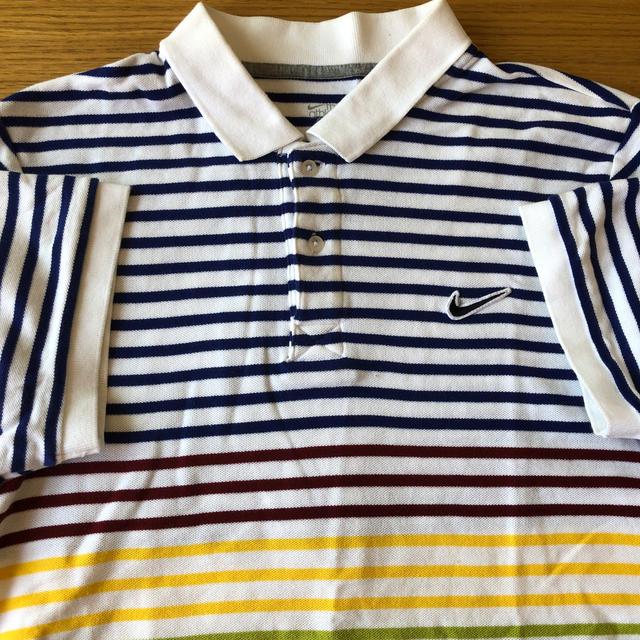 NIKE(ナイキ)のNIKE ボーダーポロシャツ 半袖 メンズのトップス(ポロシャツ)の商品写真