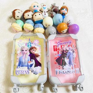 アナトユキノジョオウ(アナと雪の女王)のアナと雪の女王 スーツケース型 小物入れ ピンク&イエロー(キャラクターグッズ)