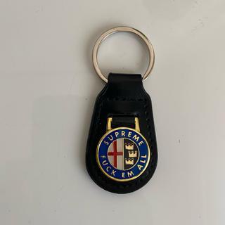 Supreme - supreme enamel leather keychain