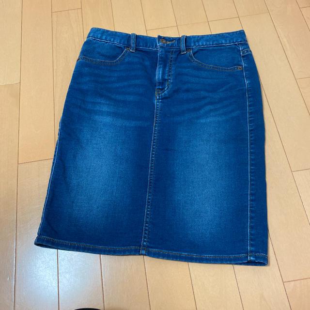 GU(ジーユー)のジーユー デニムスカート レディースのスカート(ひざ丈スカート)の商品写真