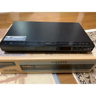 アクオス(AQUOS)のSHARP スカパー内蔵ブルーレイレコーダー BD-W500(ブルーレイレコーダー)
