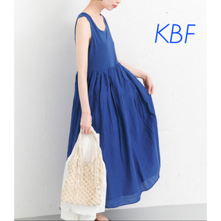 KBF - KBF ギャザーマキシタンクワンピース