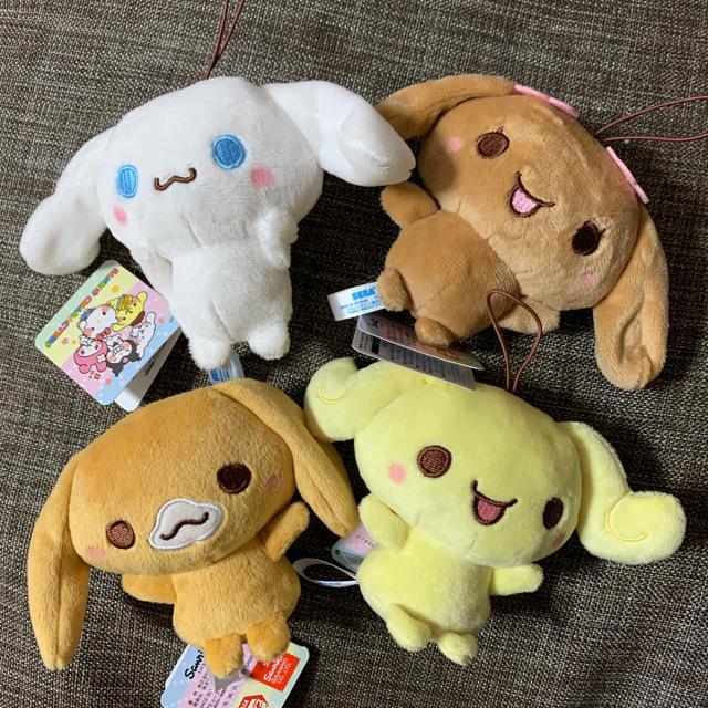 シナモロール(シナモロール)のシナモンフレンズマスコットゆるかわ❤️4つセット❤️新品 エンタメ/ホビーのおもちゃ/ぬいぐるみ(キャラクターグッズ)の商品写真