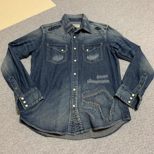 schott(ショット)のSCHOTT ダメージデニムシャツ[新品未使用] メンズのトップス(シャツ)の商品写真