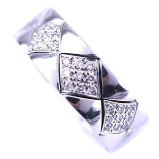 シャネル(CHANEL)のCHANEL シャネル マトラッセ ダイヤモンド リング 指輪 K18 WG(リング(指輪))