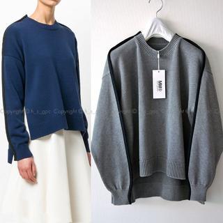 マルタンマルジェラ(Maison Martin Margiela)のMM6 アウトライン ニット セーター オーバーサイズ スウェット(ニット/セーター)