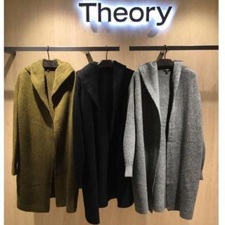 theory - theory 18AW ウールフードコート/コーディガン サイズS