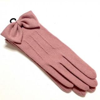 ランバンコレクション(LANVIN COLLECTION)の新品 リボン ニット 手袋 スマホ操作可能 ウール、ナイロン(手袋)