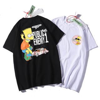 【新品】ビッグシルエット シンプソンズ プリント Tシャツ 男女兼用(Tシャツ(半袖/袖なし))