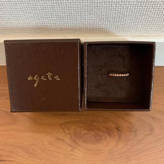 アガット(agete)の即決OK 希少 美品 agete バブルリング ピンキーリング 3号(リング(指輪))